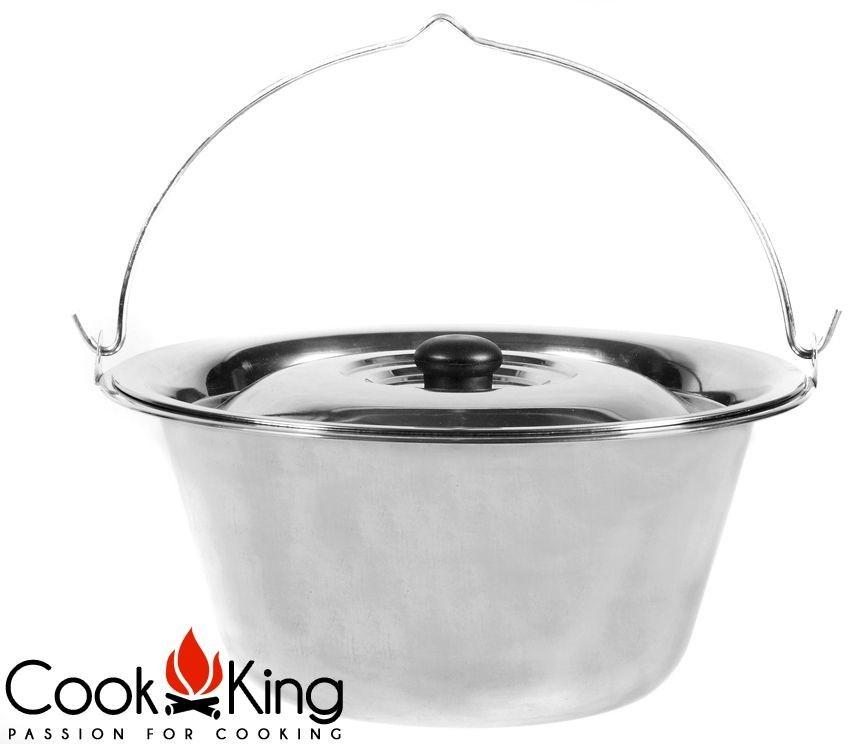 Cook King Kociołek węgierski nierdzewny z pokrywą 10l