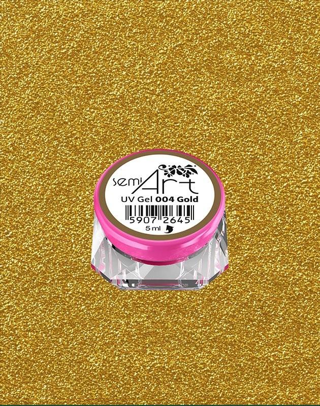 Semilac Diamond Cosmetics Semi Art Uv Gel 004 Gold 5ml