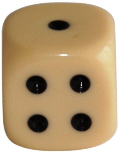 Weible Spiele weible gry 0521820akrylowa-kostka, 18MM, 20sztuk, kość słoniowa