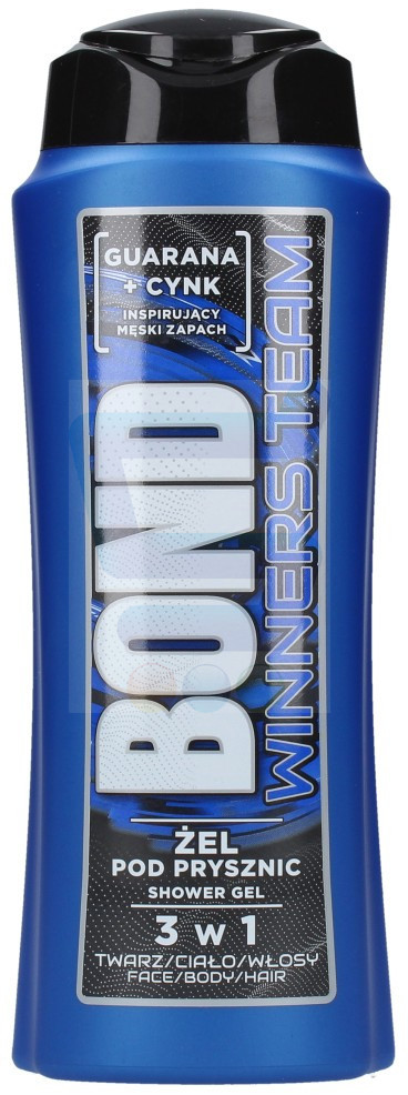 BOND 3w1 Żel pod prysznic Winners Team 400 ml