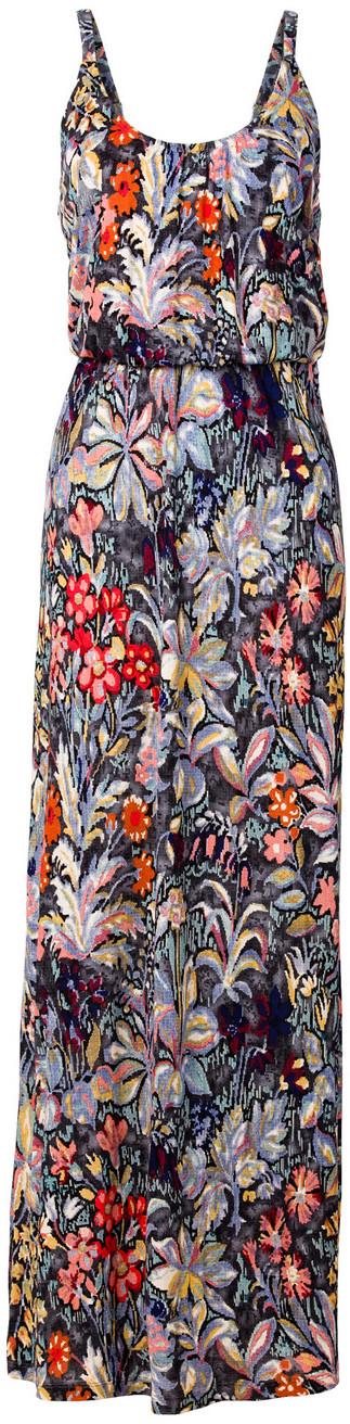 Bonprix Długa sukienka shirtowa z kolorowym nadrukiem