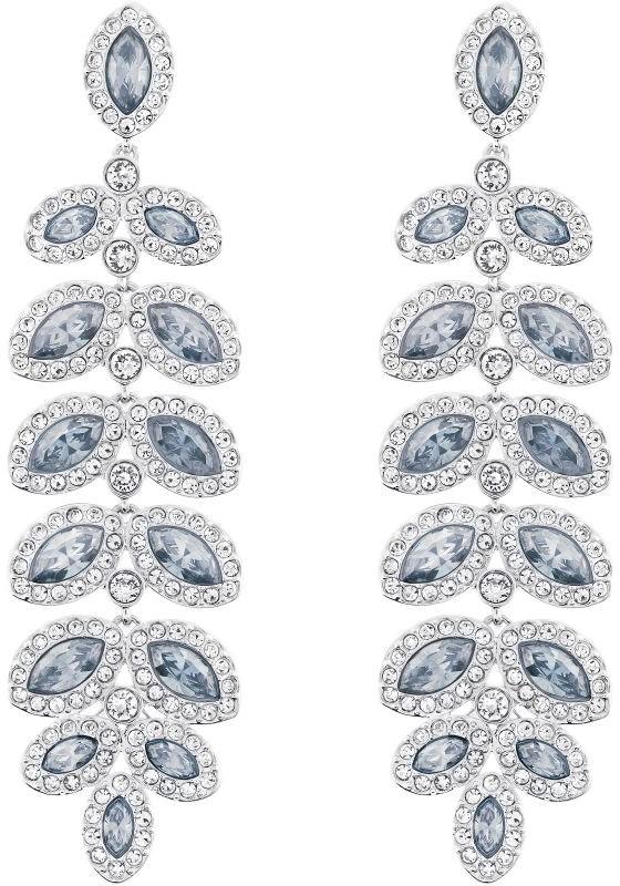 Swarovski Baron Pierced Earrings White Rhodium-plated