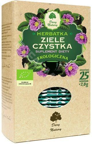 Dary Natury Herbata ziele czystka BIO - 25saszetek 06032