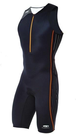 BLUESEVENTY BLUESEVENTY Strój triathlonowy TX2000 czarno-pomarańczowy