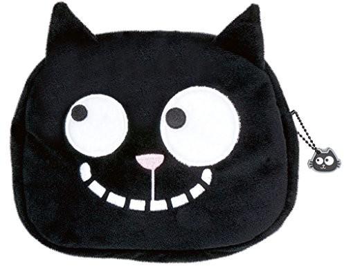 Moses . Ed, The Cat Case, kosmetyczki o wzorze kotów, dla miłośników kotów, 18cm, czarna 27453