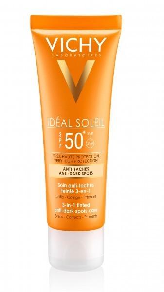 Vichy L'OREAL POLSKA IDEAL SOLEIL Krem barwiący do twarzy zapobiegający przebarwieniom 3w1 SPF50 50 ml 7072574