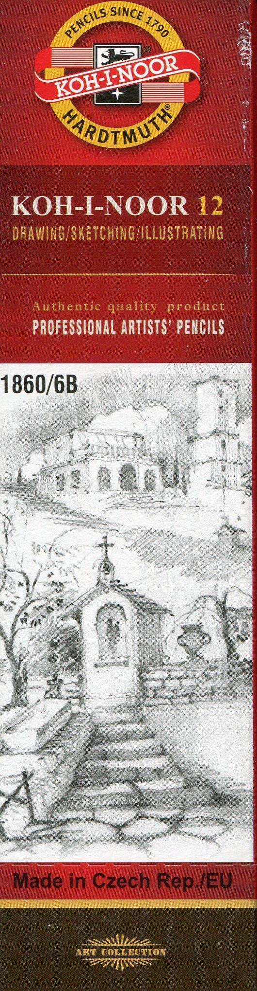 Koh-I-Noor Koh-I-Noor Ołówek grafitowy 1860/6B 12 szt