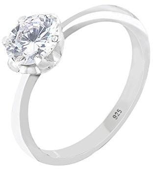 Elli damski pierścionek zaręczynowy, srebro próba 925, z cyrkonią, kolor biały, szlif brylantowy, srebro sterling próby 925, biały 06400584_52