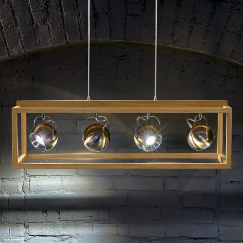 Spotlight Roy Wisząca Spot-Light 61670474 Drewno Dębowe/Metal