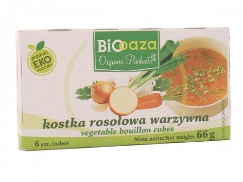 Biooaza Kostka rosołowa warzywna BIO - Biooaza - 66g 03317