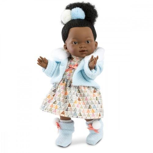 Llorens Lalka Valeria Afrykanka w kolorowej sukience 28 cm