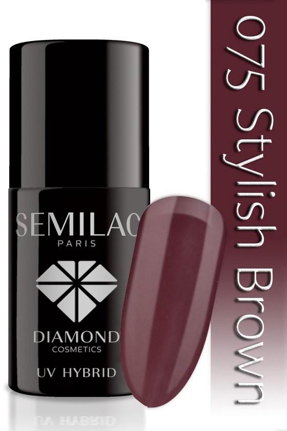Semilac Lakier Hybrydowy Semilac 075 Stylish Brown - 7 Ml 4793
