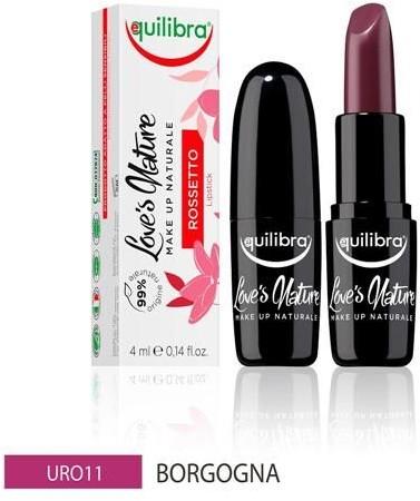 EQUILIBRA EQUILIBRA_Loves Nature Lipstick pomadka do ust Burgundy 4ml
