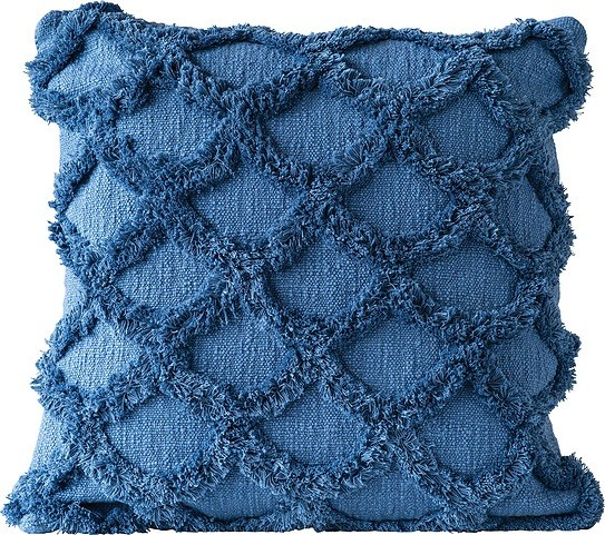 Bloomingville Poduszka dekoracyjna Bloomingville niebieska bawełniana 82044262