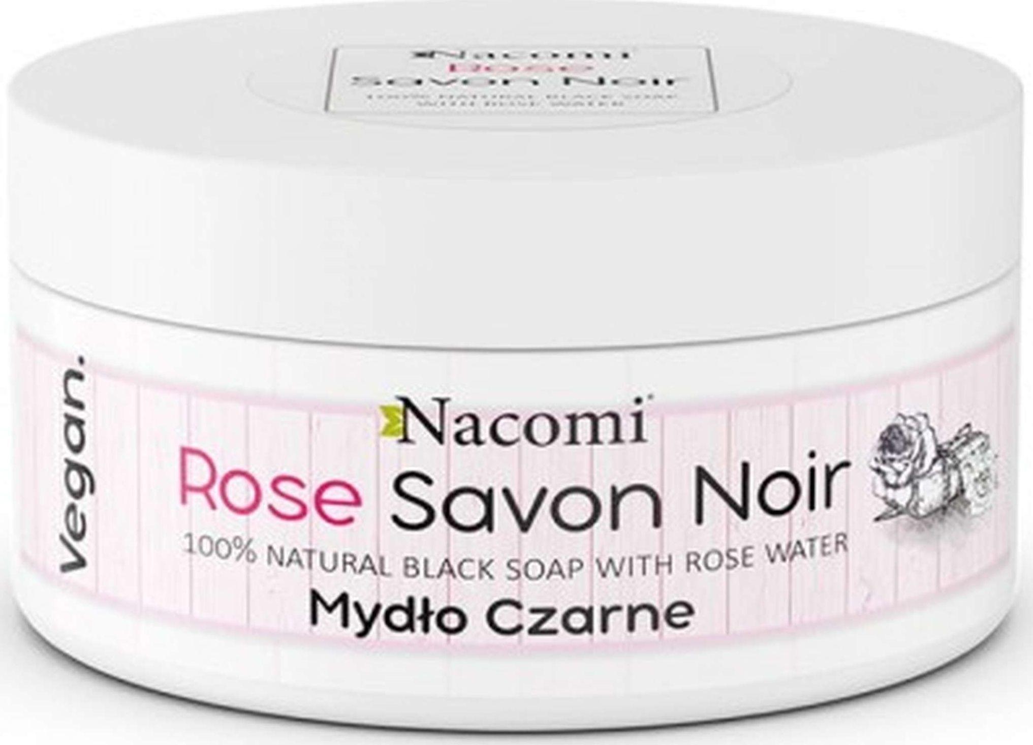 Nacomi Mydło czarne Róża 125g NAC0138