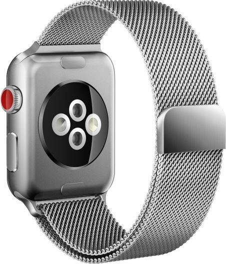 Apple TECH-PROTECT TECH-PROTECT Pasek TECH-PROTECT Milaneseband do Watch 1/2/3/4 Srebrny