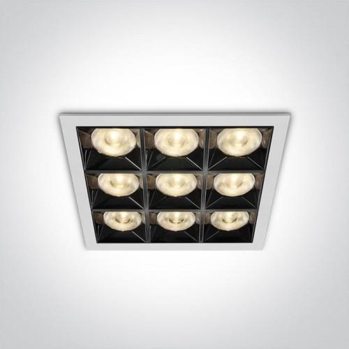 One Light Dorkada Biały   Czarny LED 36W CRI90 3000K Oprawa wpuszczana 50906B/W/W 50906B/W/W