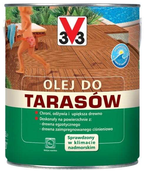 V33 Olej do taras?w drewnianych teak 2 5 l