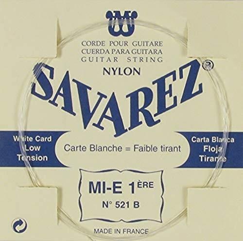 Savarez pojedynczy sznurek do klasycznej gitary tradycyjny koncert 521B pojedynczy sznurek E1 niski, pasuje do zestawu strun 520B CSA 521B