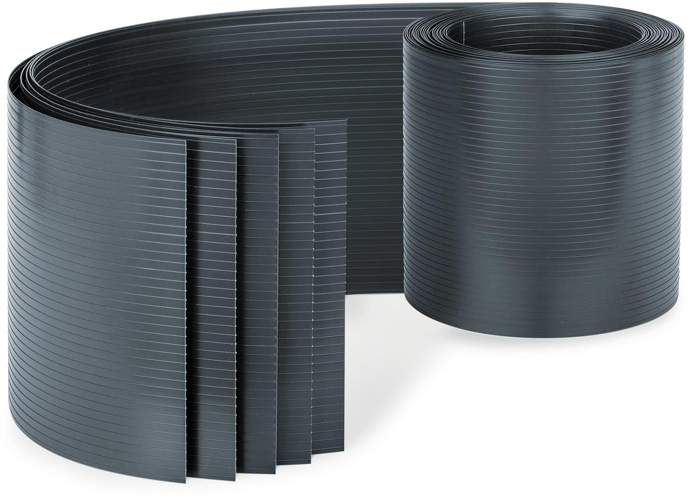 Blumfeldt Blumfeldt Ogrodzeniowa osłona maskująca, PCW  twardy plastik, 2,53 x 0,19 m PVC5 Anthrazit