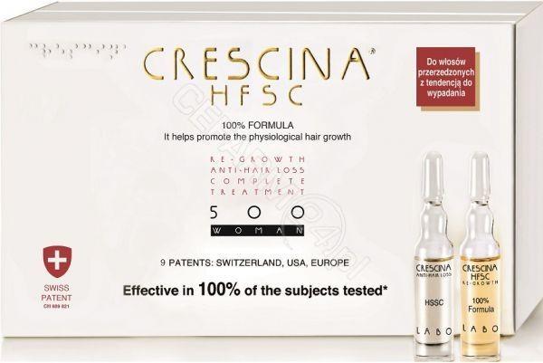 LABO COSPROPROPHAR Crescina Hfsc 100% Complete Treatment i Anti-Hair Loss 500 pśrednia faza przerzedzenia włosów dla kobiet x 10+10 amp produkt dostępny na zamówienie czas oczekiwania 3-5 dni roboczych | DARMOWA DO