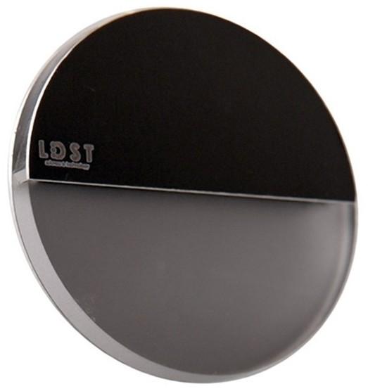 LDST LDST RO-01-CB-BZ4 - LED Oświetenie schodowe ROBIN 4xLED/1,2W/230V błyszczący czarny