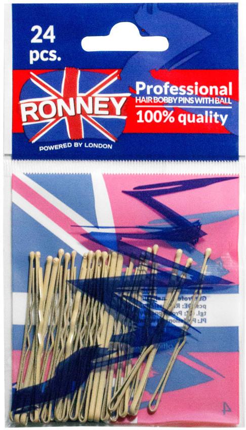 ronney RONNEY Profesjonalne wsuwki do włosów z kulką kremowe- 24 szt (236/24)