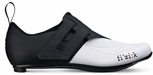 Fizik Transiro Powerstrap R4 buty triathlon czarne/białe 2019 buty rowerowe buty sportowe, 44 (F8525440)