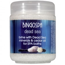 BingoSpa Solanka z minerałami z Morza Martwego z olejkiem cedrowym i olejkiem z baobabu do kąpieli SPA - BingoSpa Brine With Dead Sea Minerals For SPA Baths With Cedar And Baobab Seed Oil