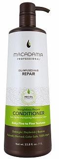 Macadamia Weightless Moisture Conditioner odżywka wzmacniająca do włosów delikatnych bez objętości 1000 ml