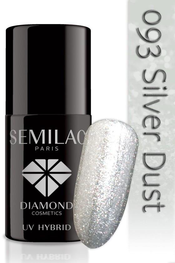 Semilac Lakier Hybrydowy Semilac 093 Silver Dust - 7 Ml 4811