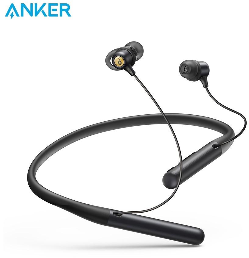Anker Soundcore życie U2 Bluetooth z pałąkiem na kark słuchawki z 24 H czas odtwarzania, 10 mm