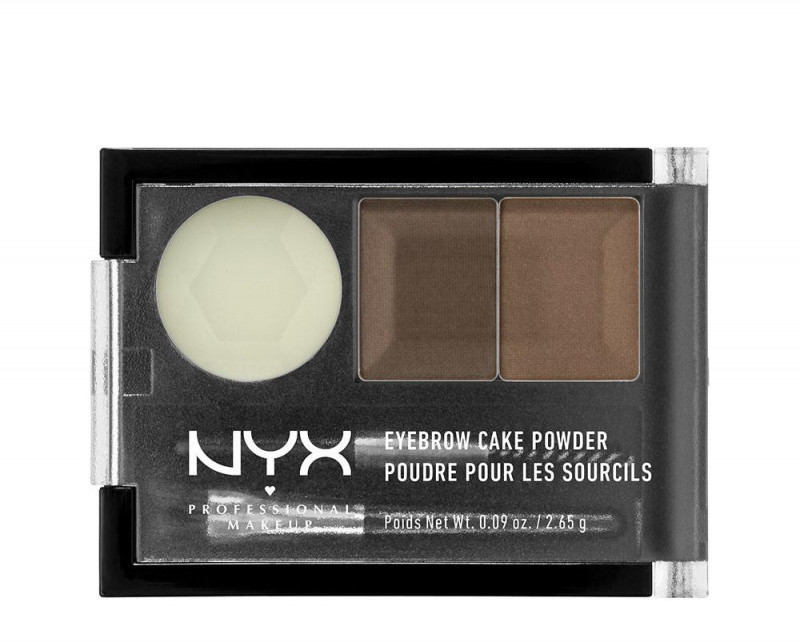 NYX professional makeup Professional Makeup - EYEBROW CAKE POWDER - Zestaw do makijażu brwi - 05 - BRUNETTE
