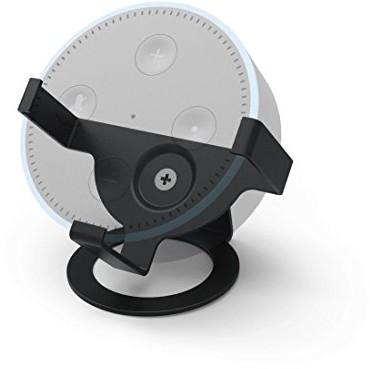 Hama -podstawką (2. generacji, w celu optymalnego dopasowania i prezentację Echo Dot, głośnik-stojak na stół,-uchwyt, odpowiedni do Amazon Echo Dot) czarna 00181518