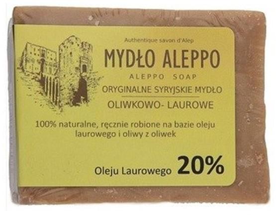 ALEPPO Biomika Naturalne Mydło 20% Oleju Laurowego Do Pielęgnacji Ciała 200g