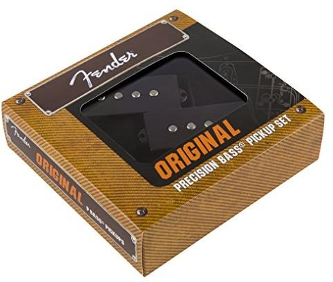 Fender 992046000 oryginalny vintage design precyzyjne przetworniki basowe, czarne 0992046000