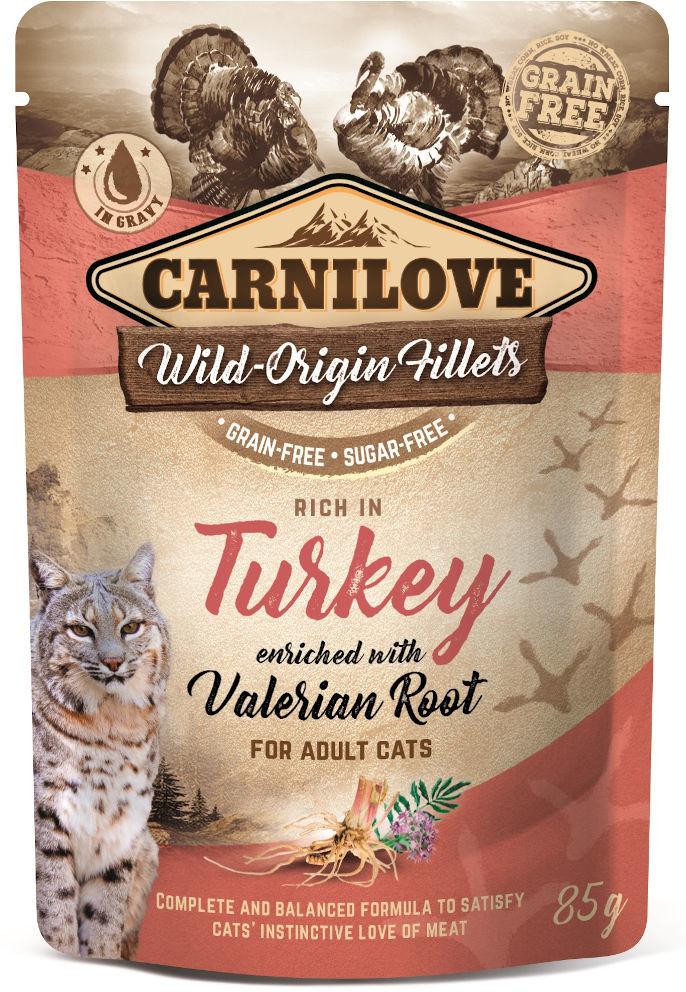 Carnilove Carnilove Cat Turkey & Valerian Mokra karma z indykiem i walerianą 85g
