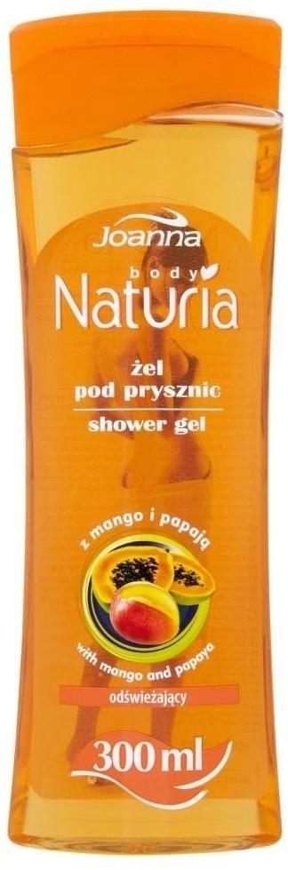 Joanna Naturia Refreshing Shower Gel odświeżający żel pod prysznic Mango & Papaja 300ml