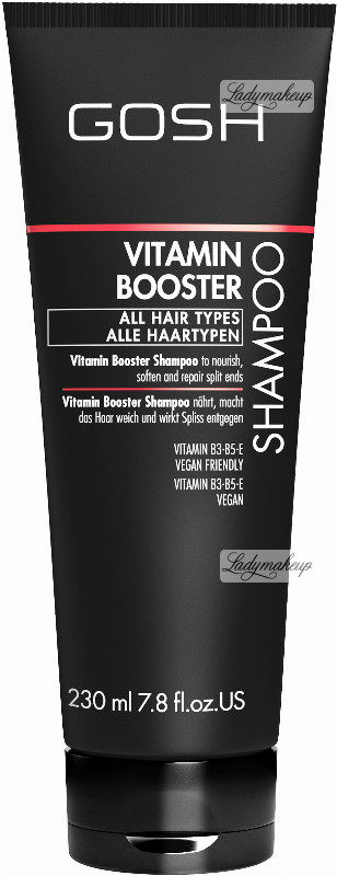 Gosh VITAMIN BOOSTER - SHAMPOO - Witaminowy szampon do włosów zniszczonych GOSVSDWL
