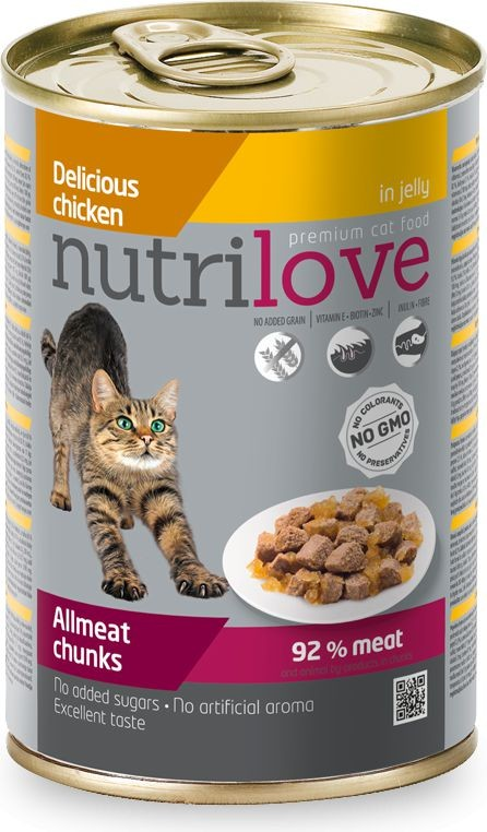 NUTRILOVE NUTRILOVE Nutrilove puszka Kurczak w galaretce 400g