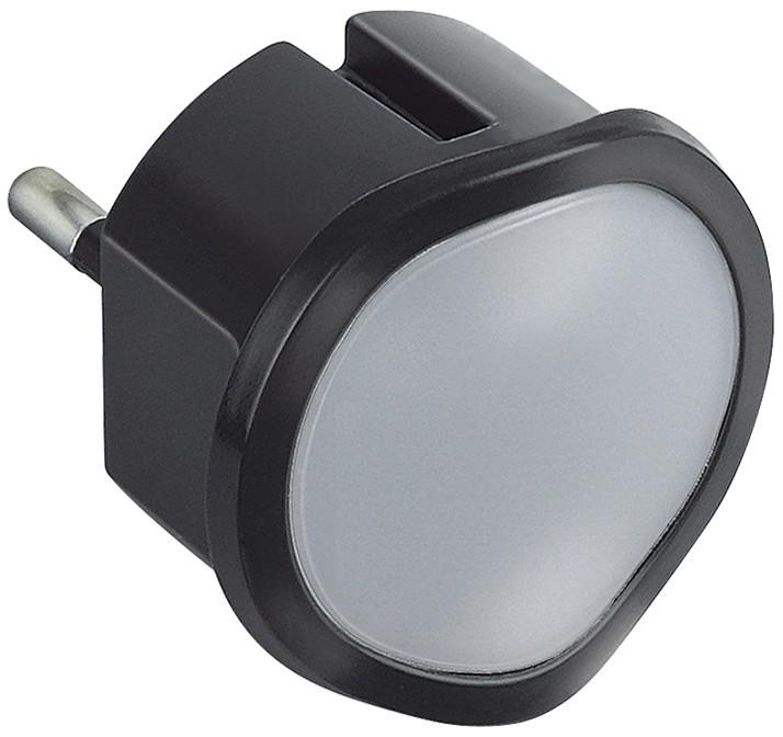 Legrand 50677 - LED Lampa nocna ściemnialna do gniazday LED/0,06W/230V czarny