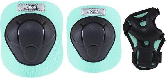 NILS Extreme H210 czarno-miętowy rozm.S zestaw ochraniaczy (16-60-018)