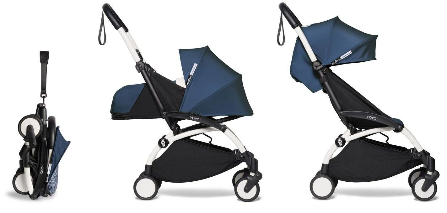 Babyzen YOYO - kompletny zestaw 0+ i 6+ czarna rama/tapicerka Air France Blue