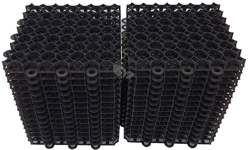 Folie Majda Krata ogrodowa kratka trawnikowa chodnikowa parkingowa czarna 50x50cm 40mm (100 szt.) KPC5040100