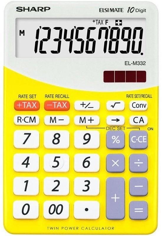Sharp Kalkulator Desktop Blister ELM332BYL Żółty ELM332BYL ŻÓŁTY ELM332BYL ŻÓŁTY