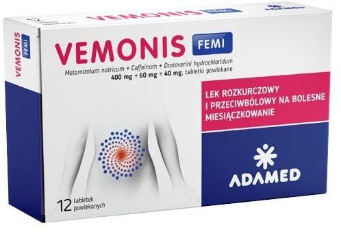 Lek adamed consumer healthcare s.a Vemonis Femi na bolesne miesiączkowanie 6 tabletek
