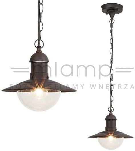 Rabalux Zewnętrzna LAMPA wisząca OSLO 8717 ogrodowa OPRAWA industrialny zwis outdoor IP44 czarny 8717