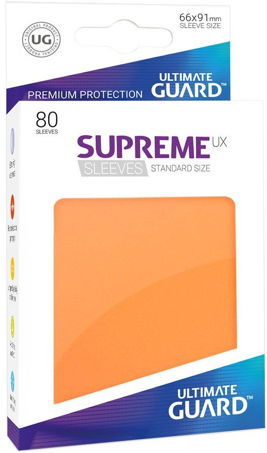 Ultimate Guard Guard Supreme UX Sleeves Standard Size Orange (80)