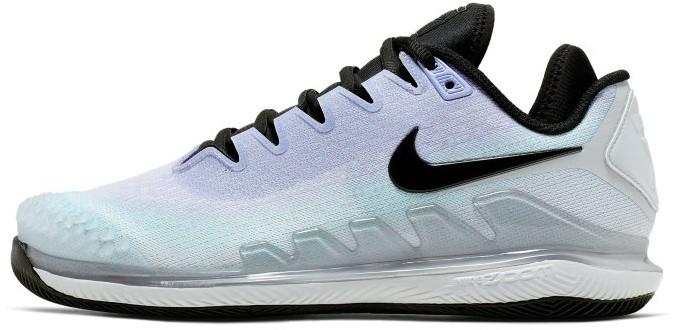 Nike Damskie buty do tenisa na twarde korty NikeCourt Air Zoom Vapor X Knit - Srebrny AR8835-002