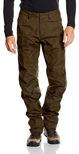 Fjällräven męskie spodnie trekkingowe Nils Trousers, zielony, 46 F81752-633_Dark Olive_46
